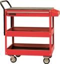 钢制工具推车 三层 红色