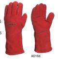 隔热焊工手套 红