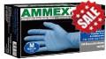 一次性蓝色丁腈手套 无粉 M号 100只/盒  厚度4mil