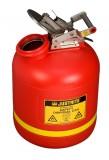 5加仑(19升)红色聚乙烯废液罐