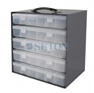物料盒存储钢架(可装5个物料盒)